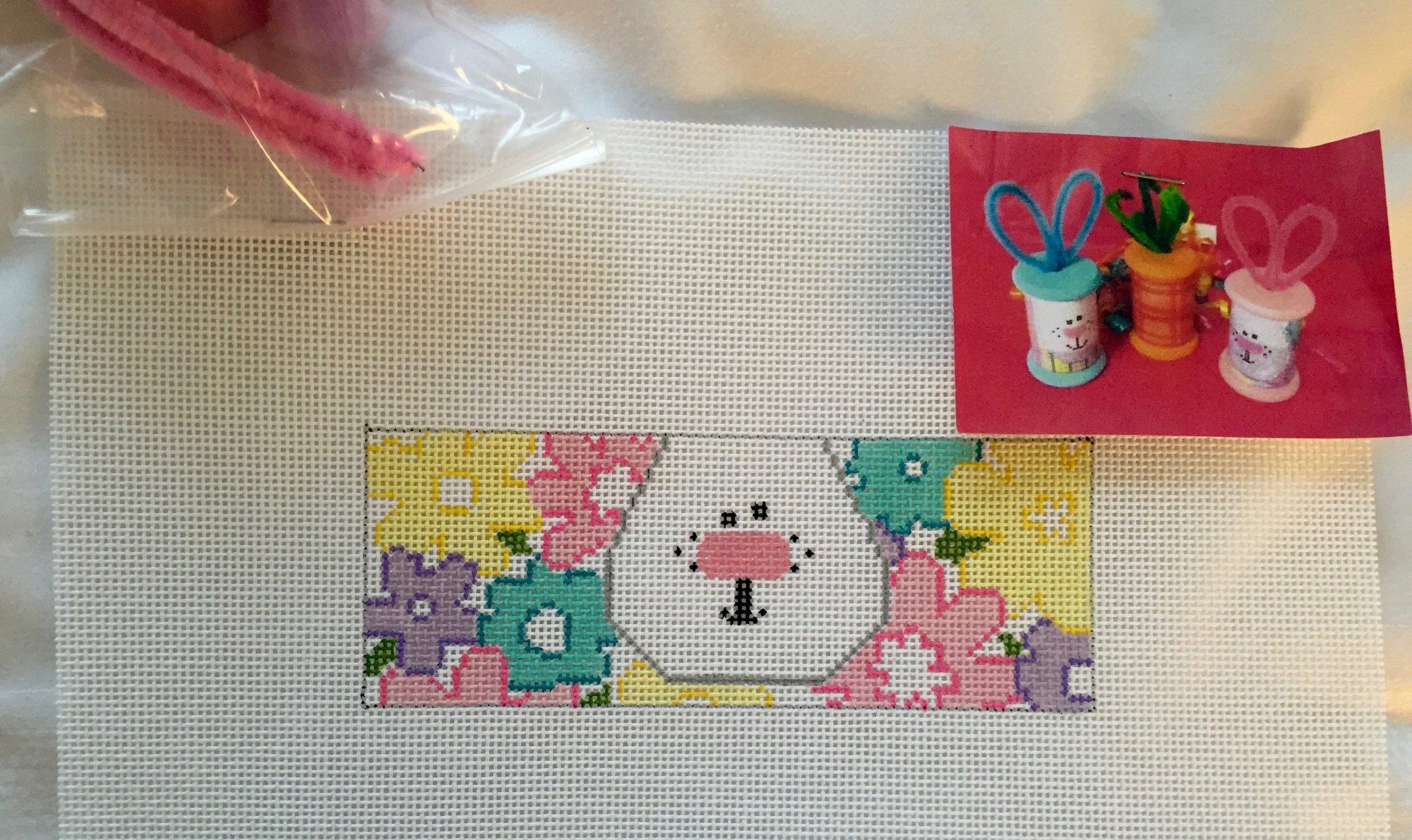 Floral Bunny Spool