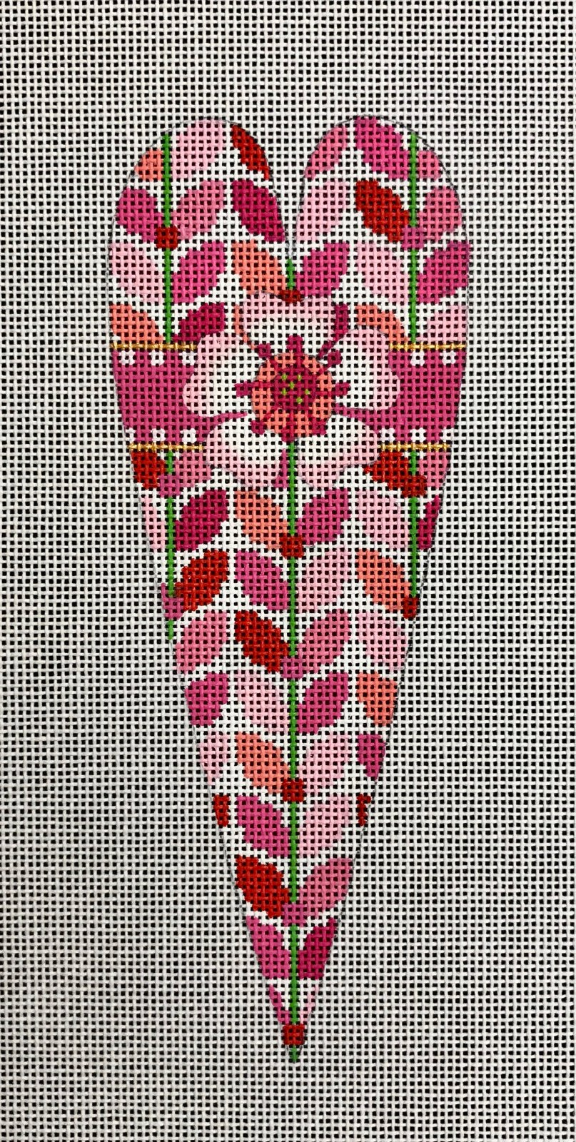 Pink Floral Heart