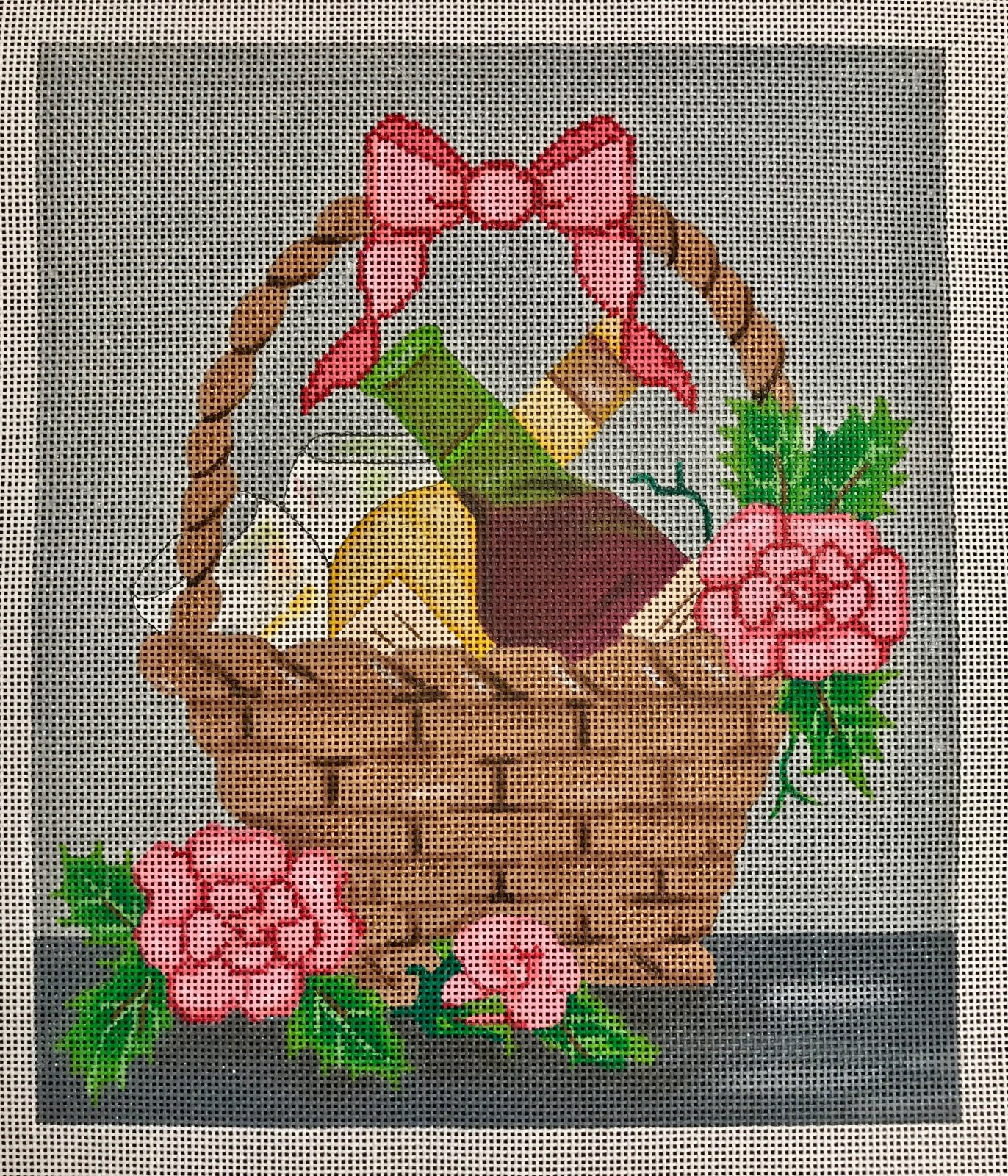Wine and Roses Basket