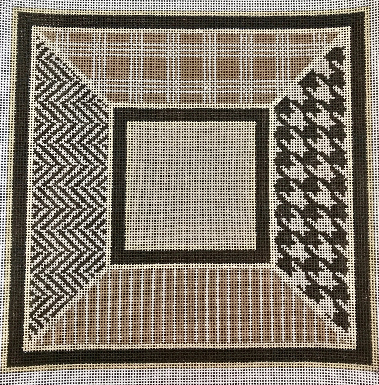 Black and Tan Geometric