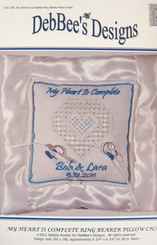 My Heart is Complete Ring Bearer Pillow