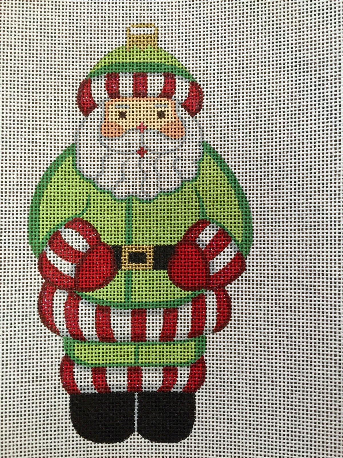 Santa in Green Coat
