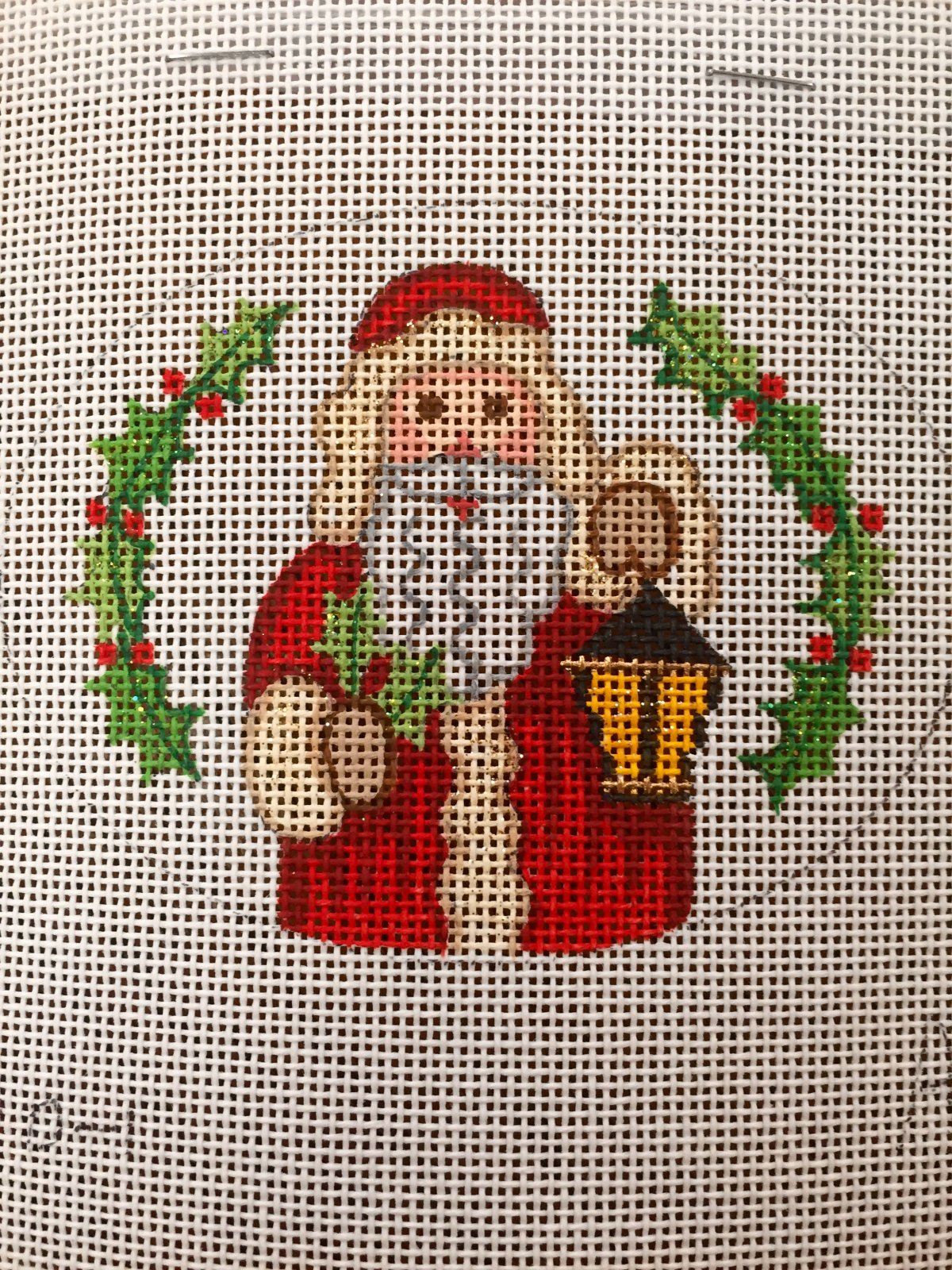 Santa with Lantern Ornament