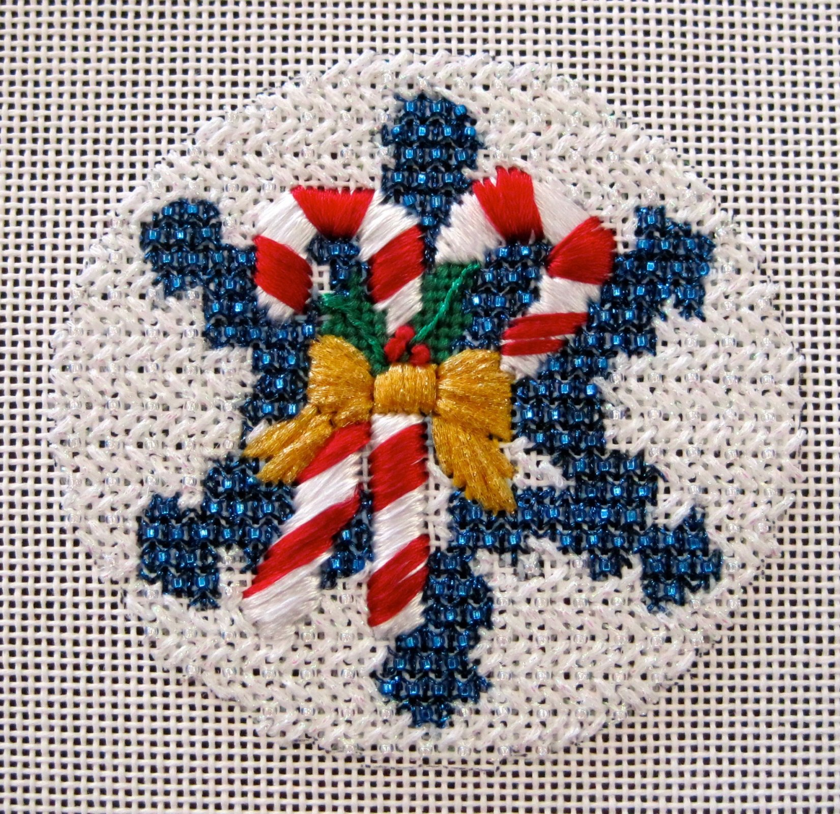 Candy Canes Beaded Snowflake Stitch Guide