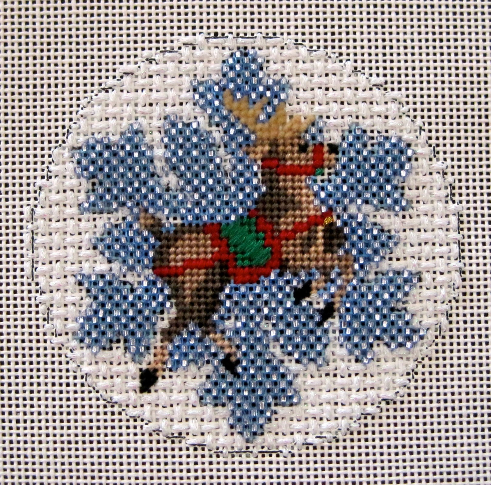 Reindeer Beaded Snowflake Stitch Guide