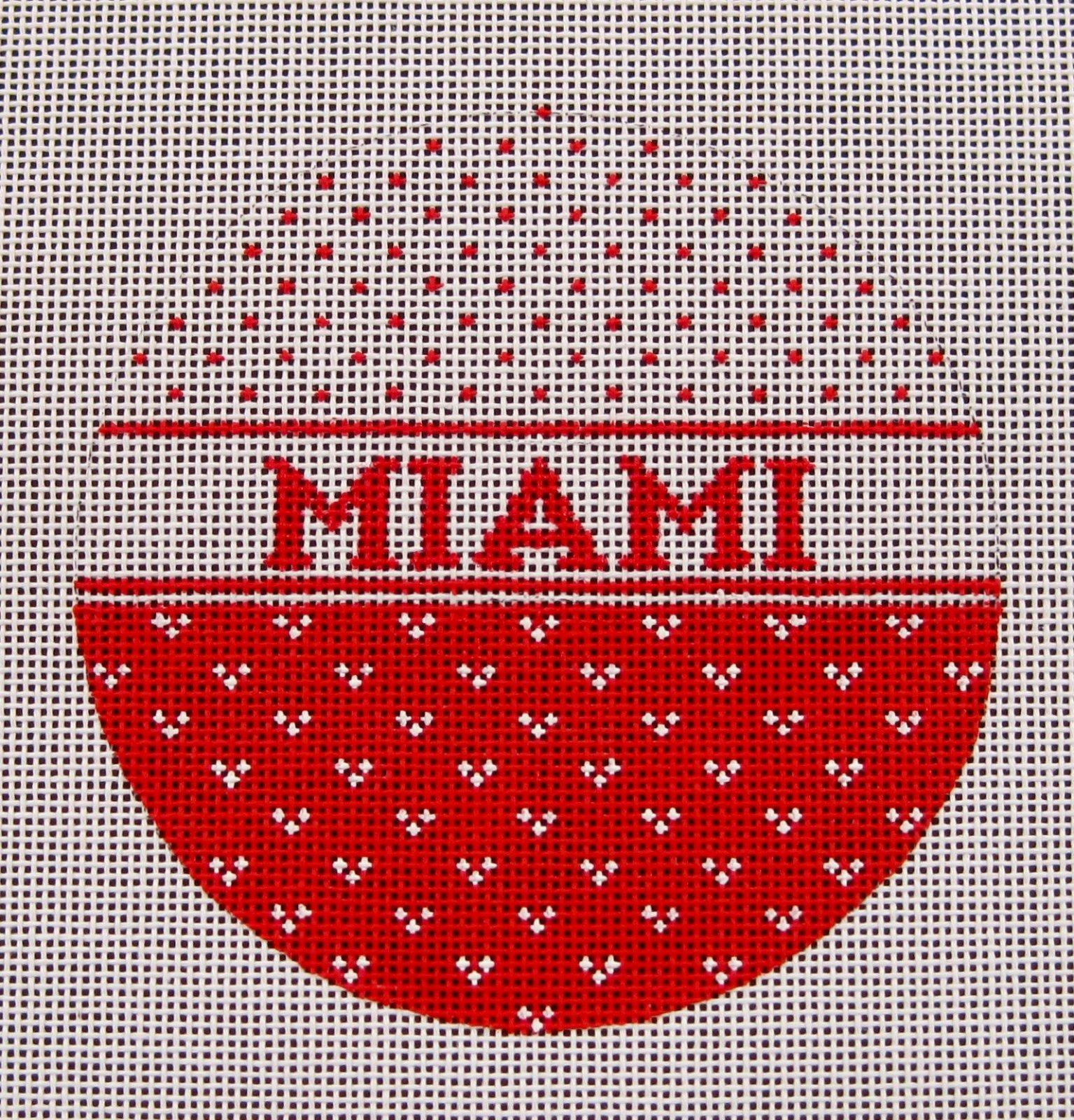 Miami (Ohio) Round Ornament