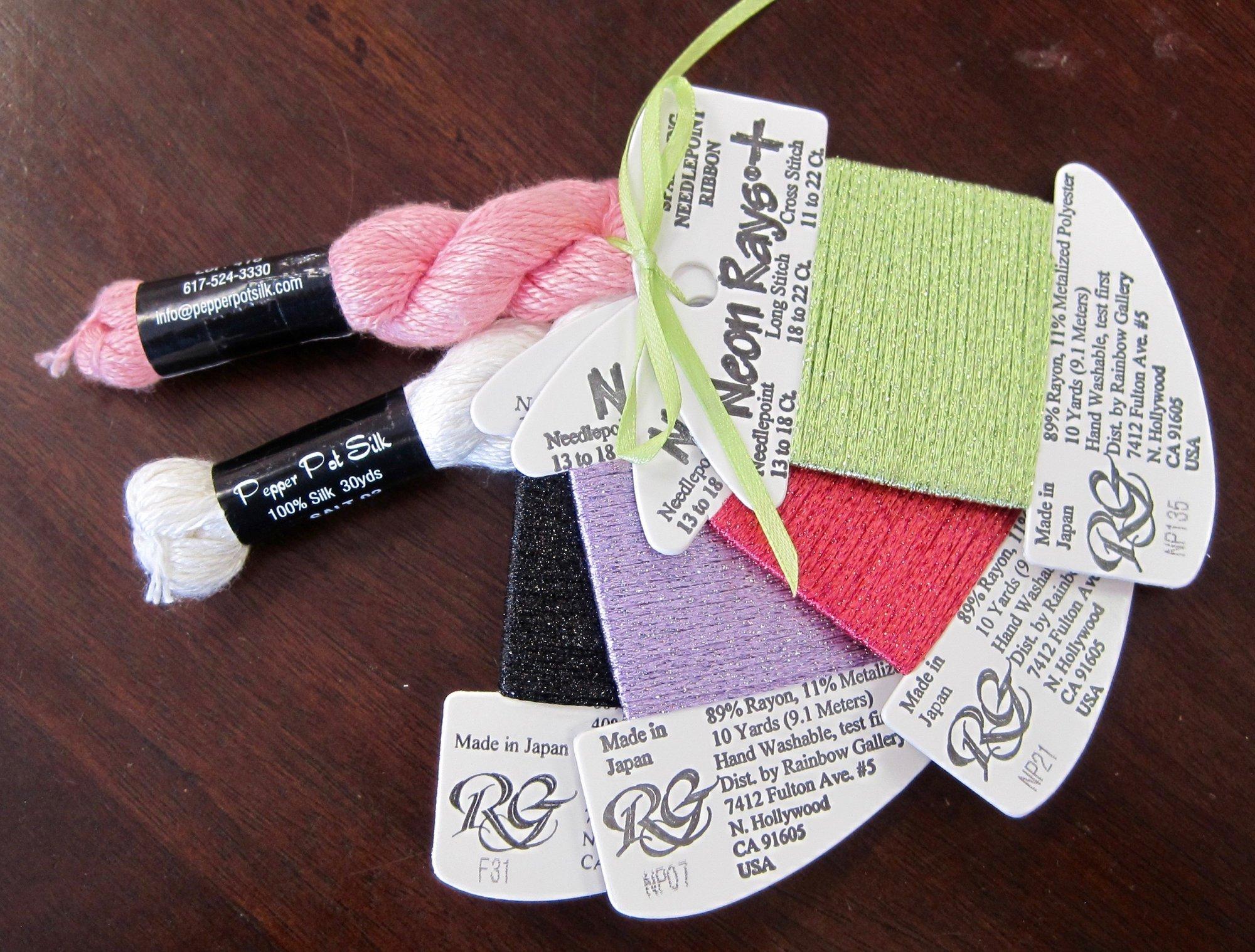 Pink Skirt Sock Monkey Thread Pak