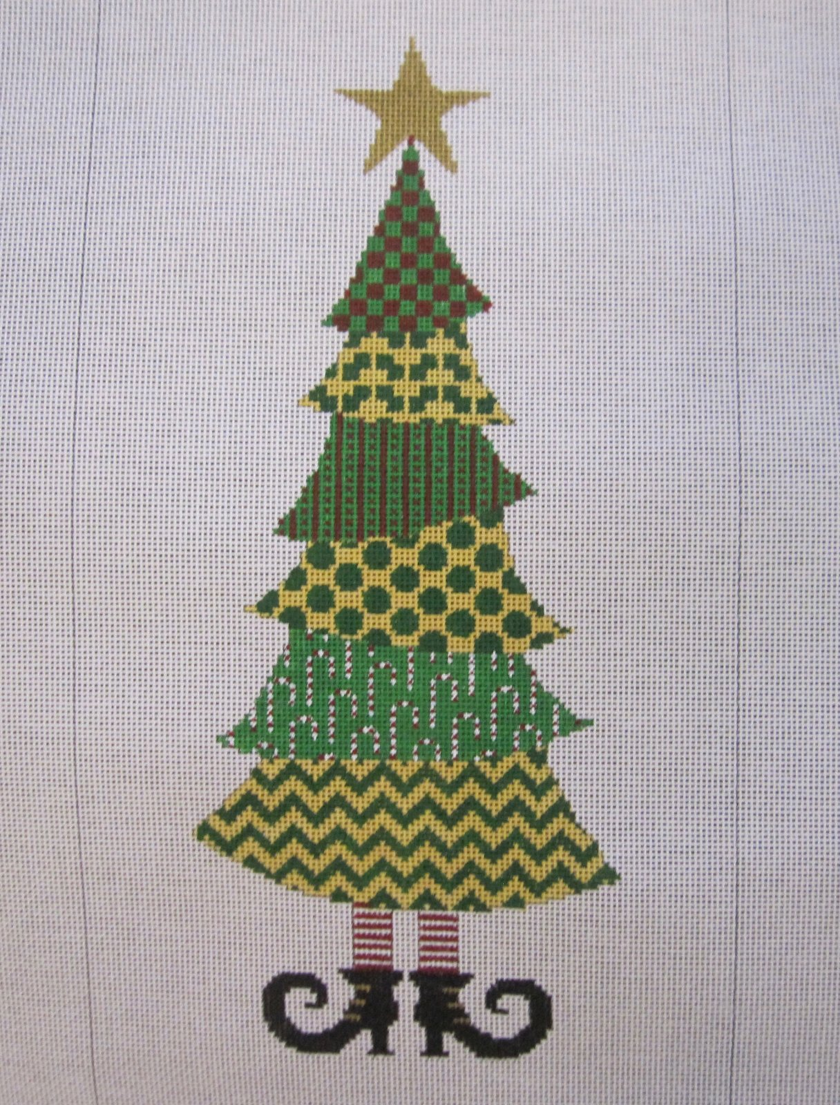 Yellow and Green Patchwork Tree