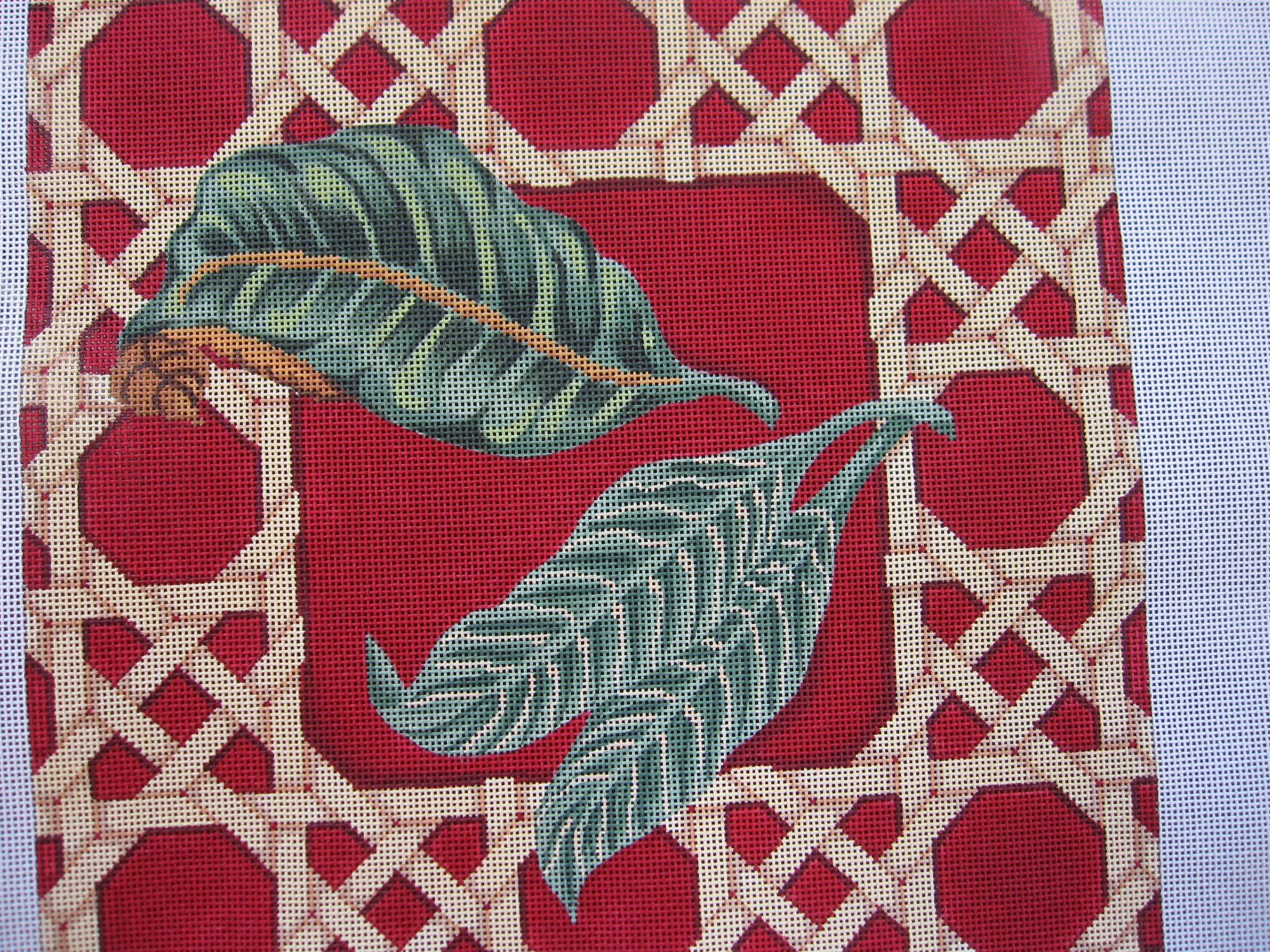 Leaf/Caning Pattern Pillow