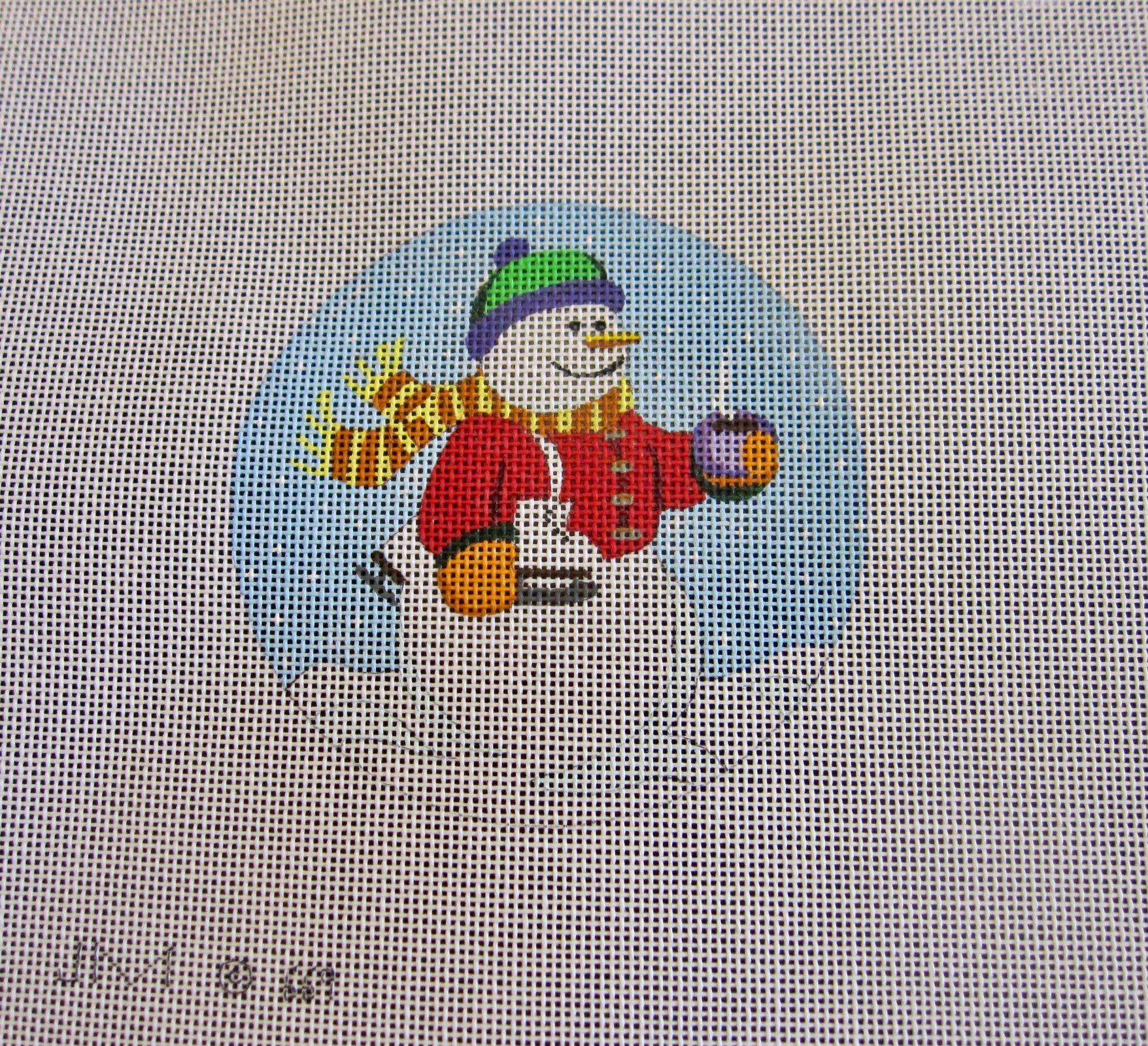 Snowman with Ice Skates