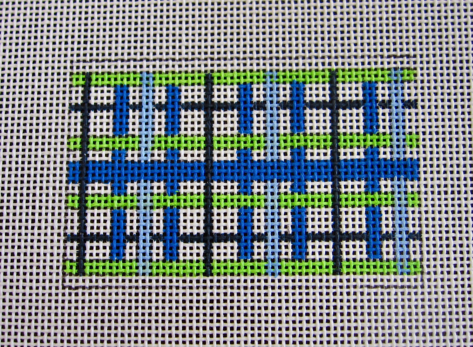 Blue and Green Wallet Insert