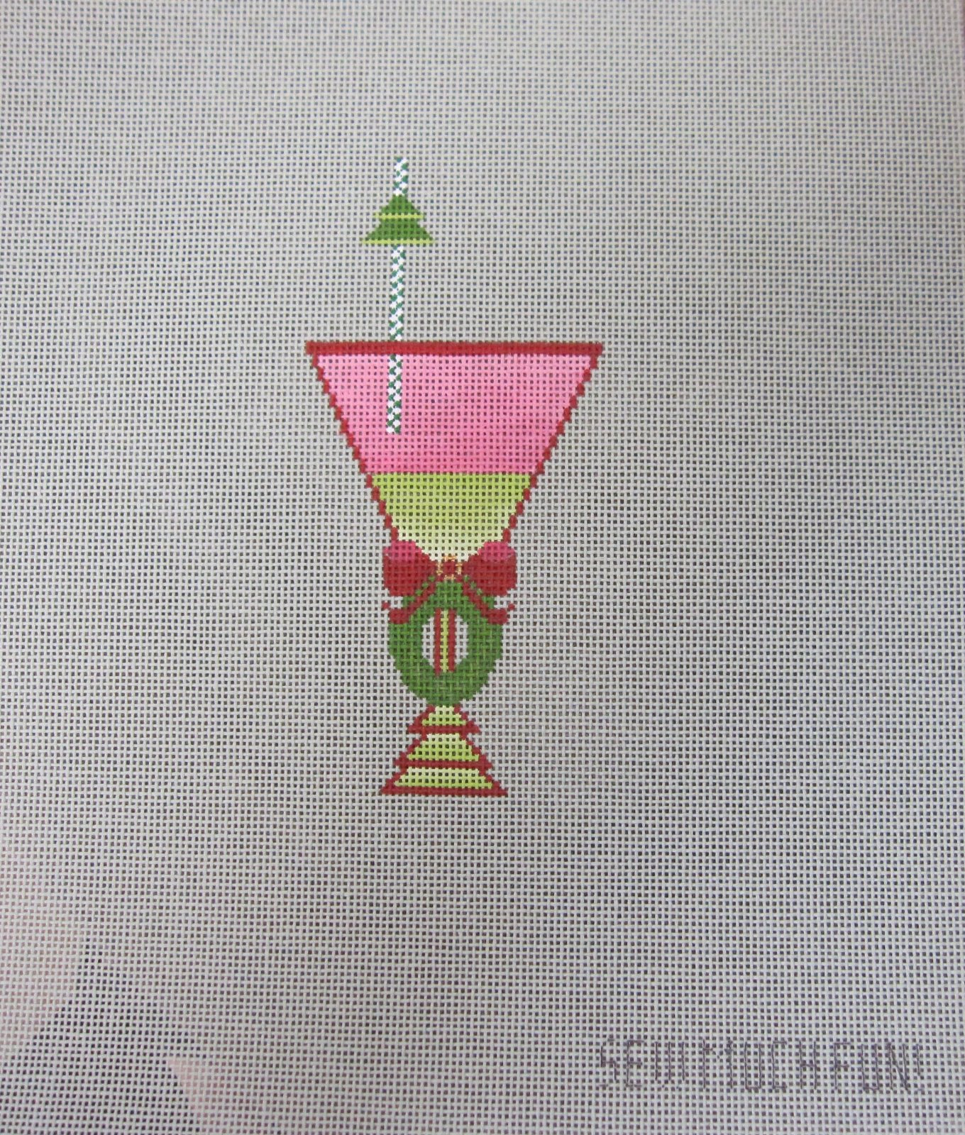 Wreath Drink with stitch guide