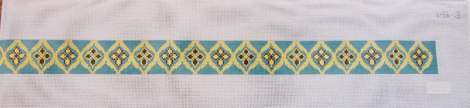 Blue & Yellow Geometric Belt