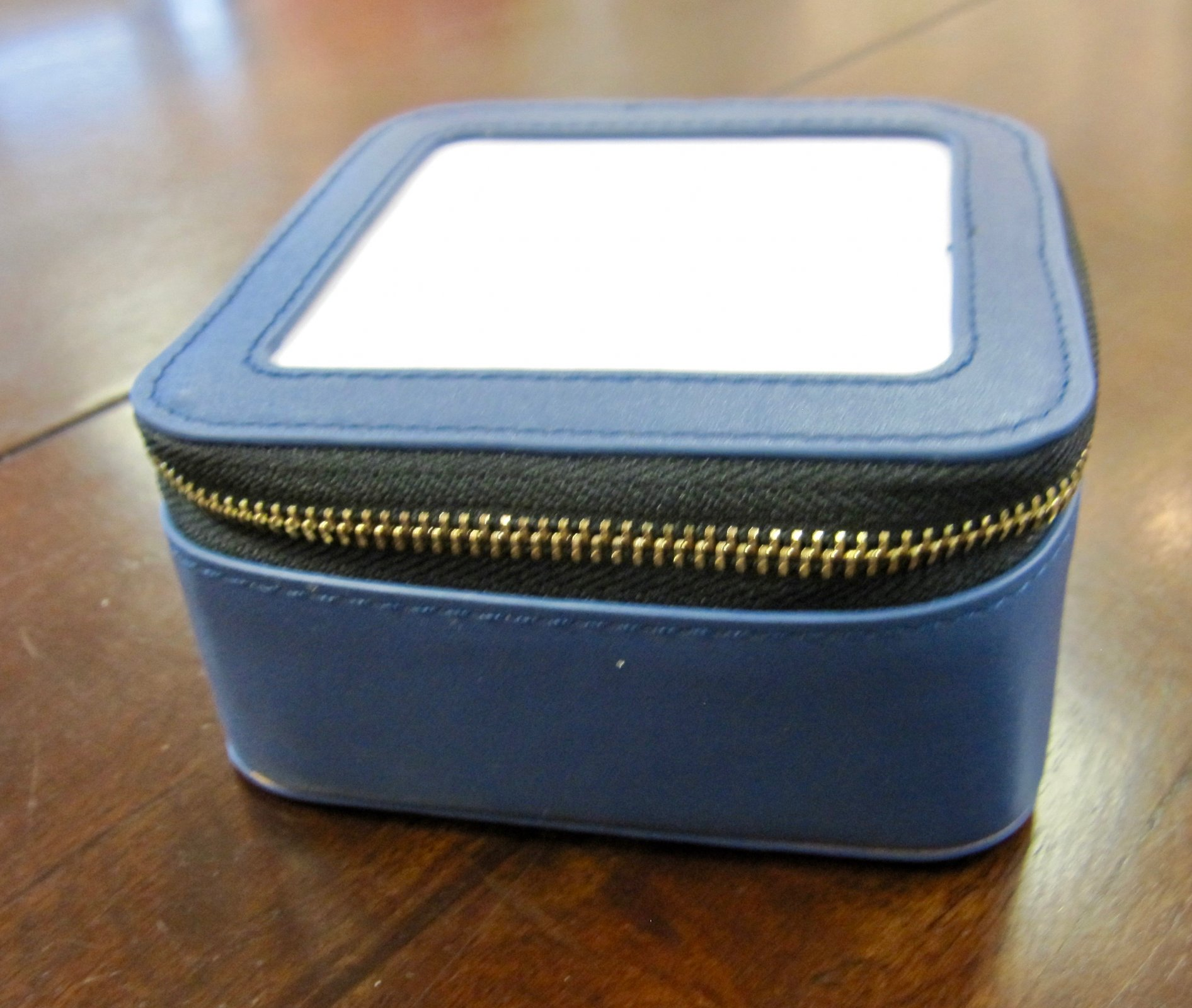 Blue Leather Jewelry Box