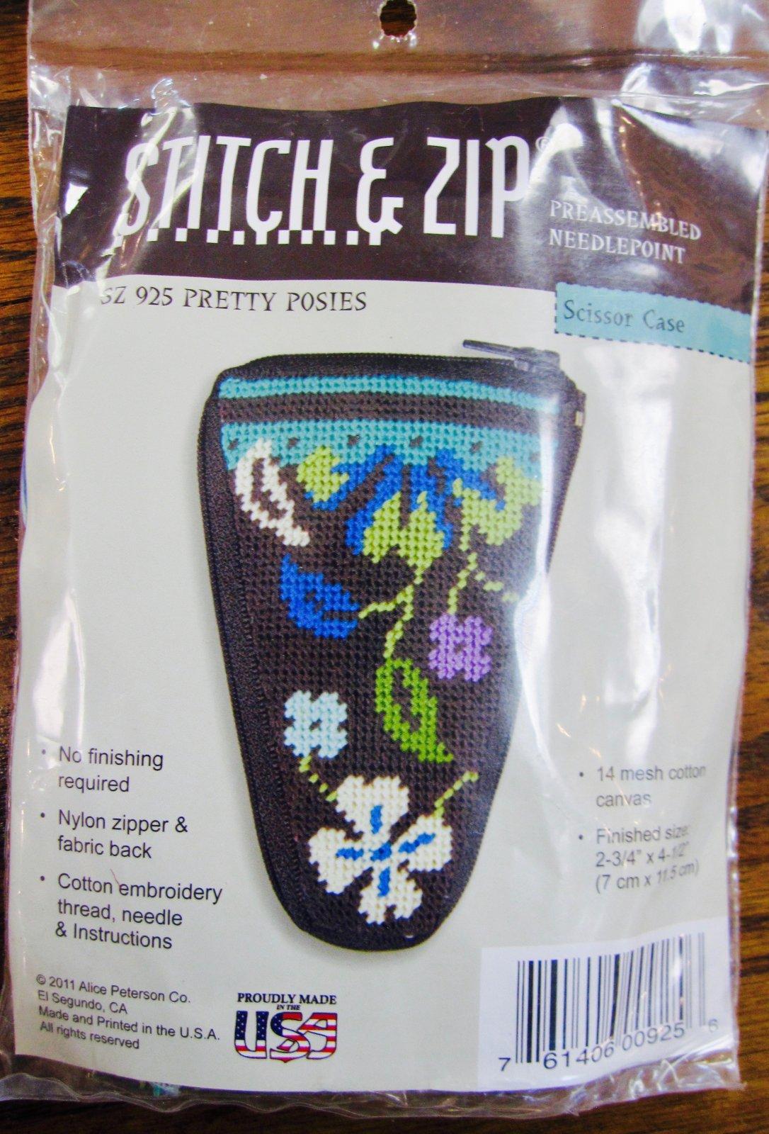 Pretty Posies Stitch & Zip scissor case