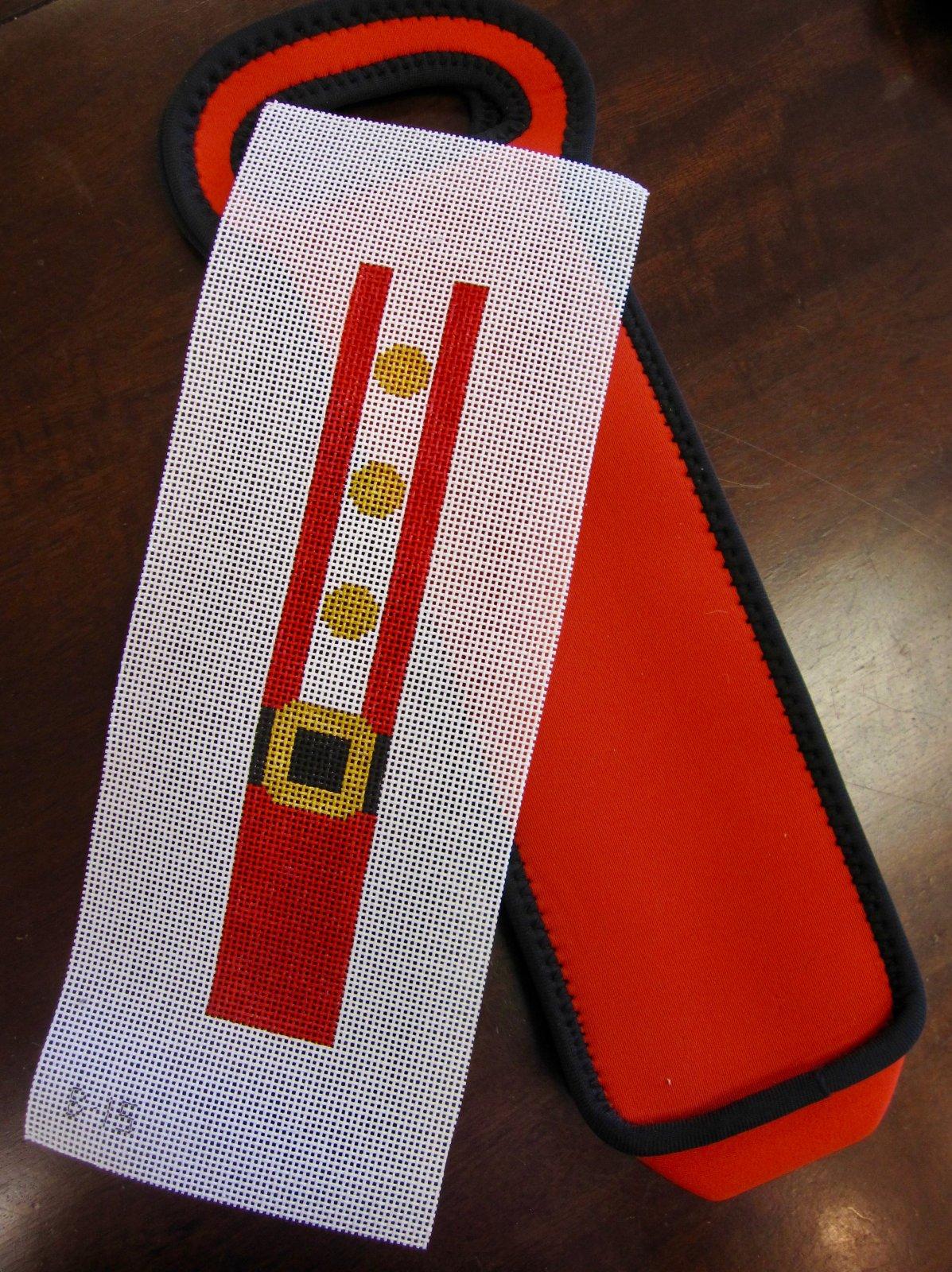 Santa Suit & Red Neoprene Wine Bag