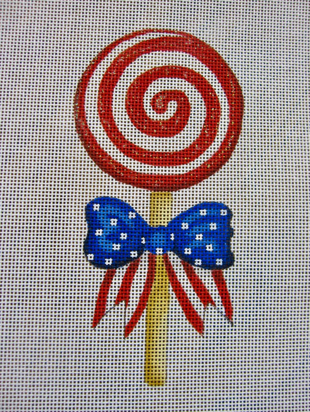 Mini Patriotic Swirly Lollipop