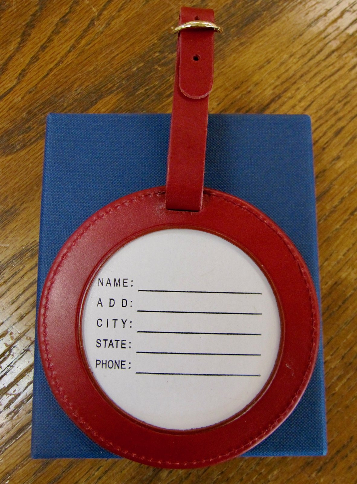 Round Luggage tag - 4 Red