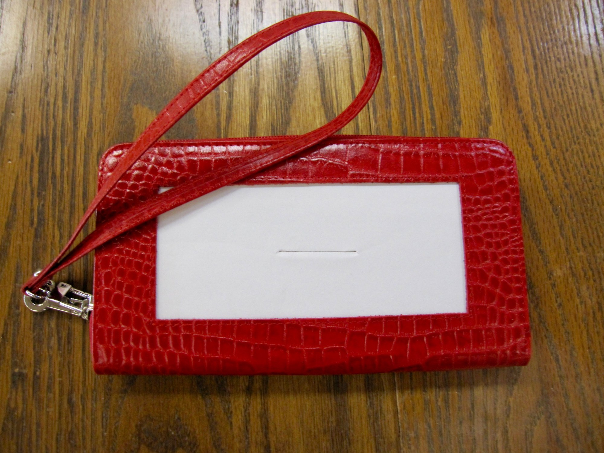 Zip Top Red Wallet