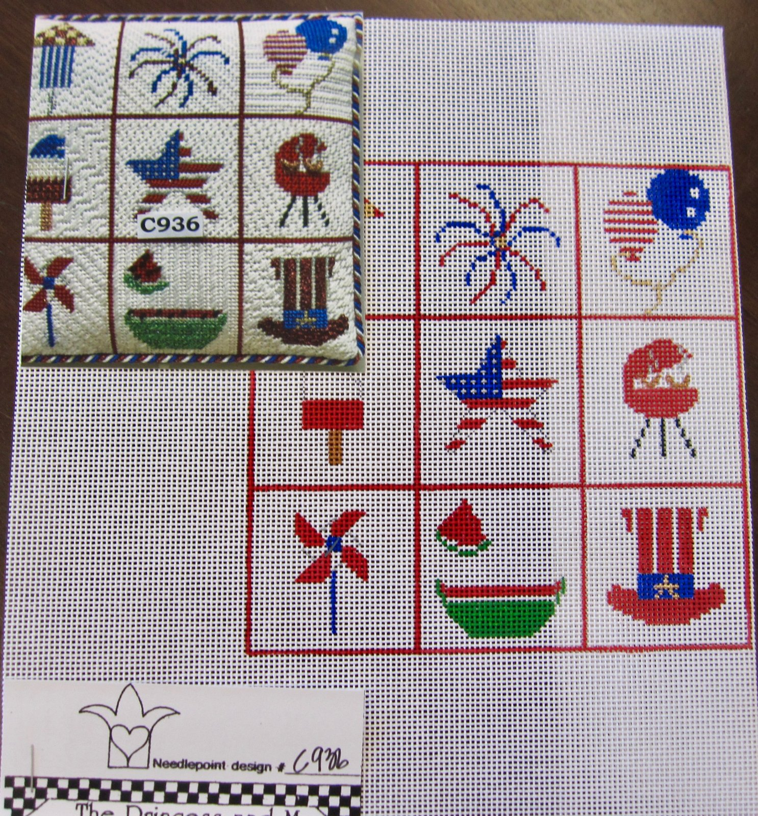 4th of July Squares w/ Stitch Guide