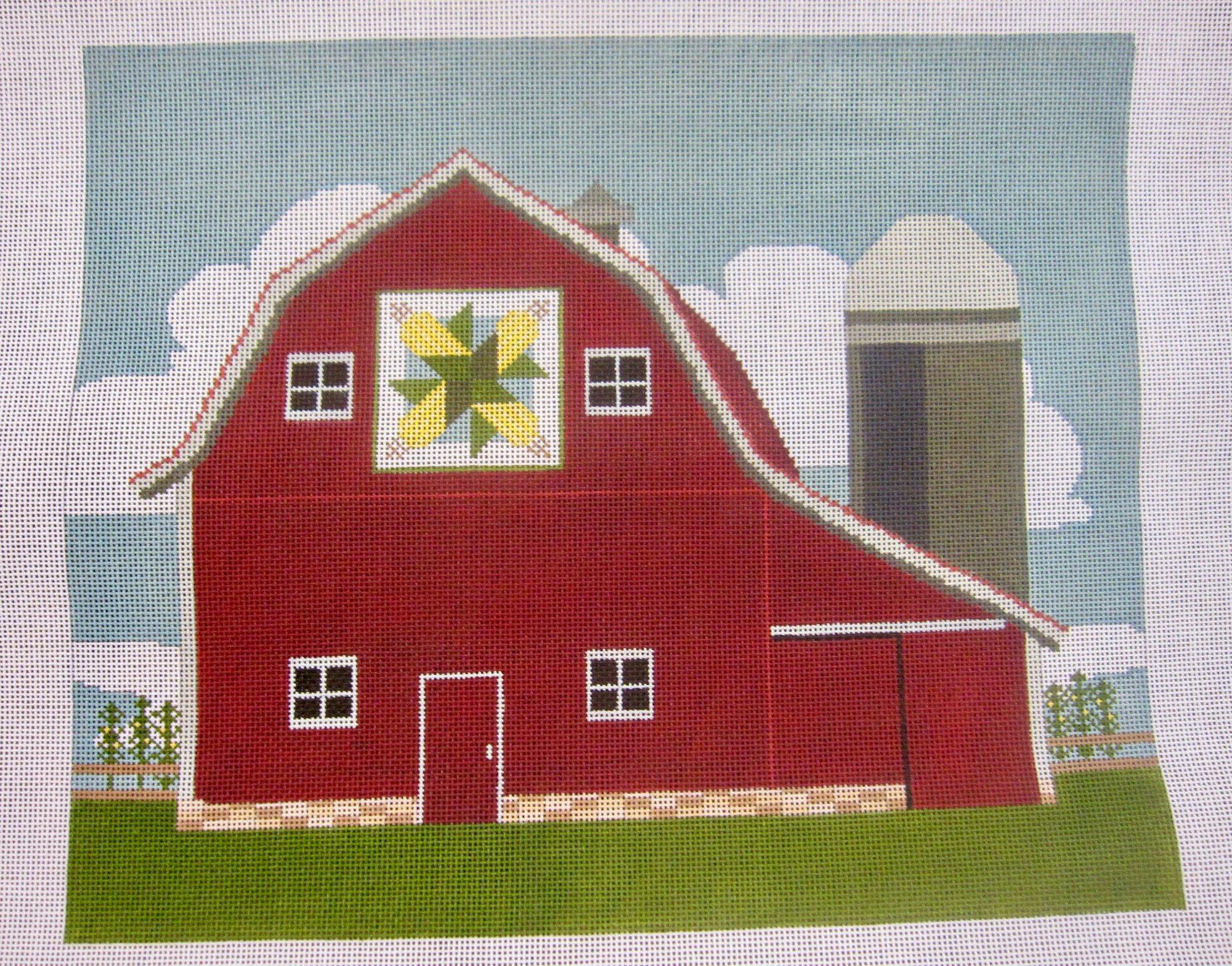 Barn w/ Corn Quilt