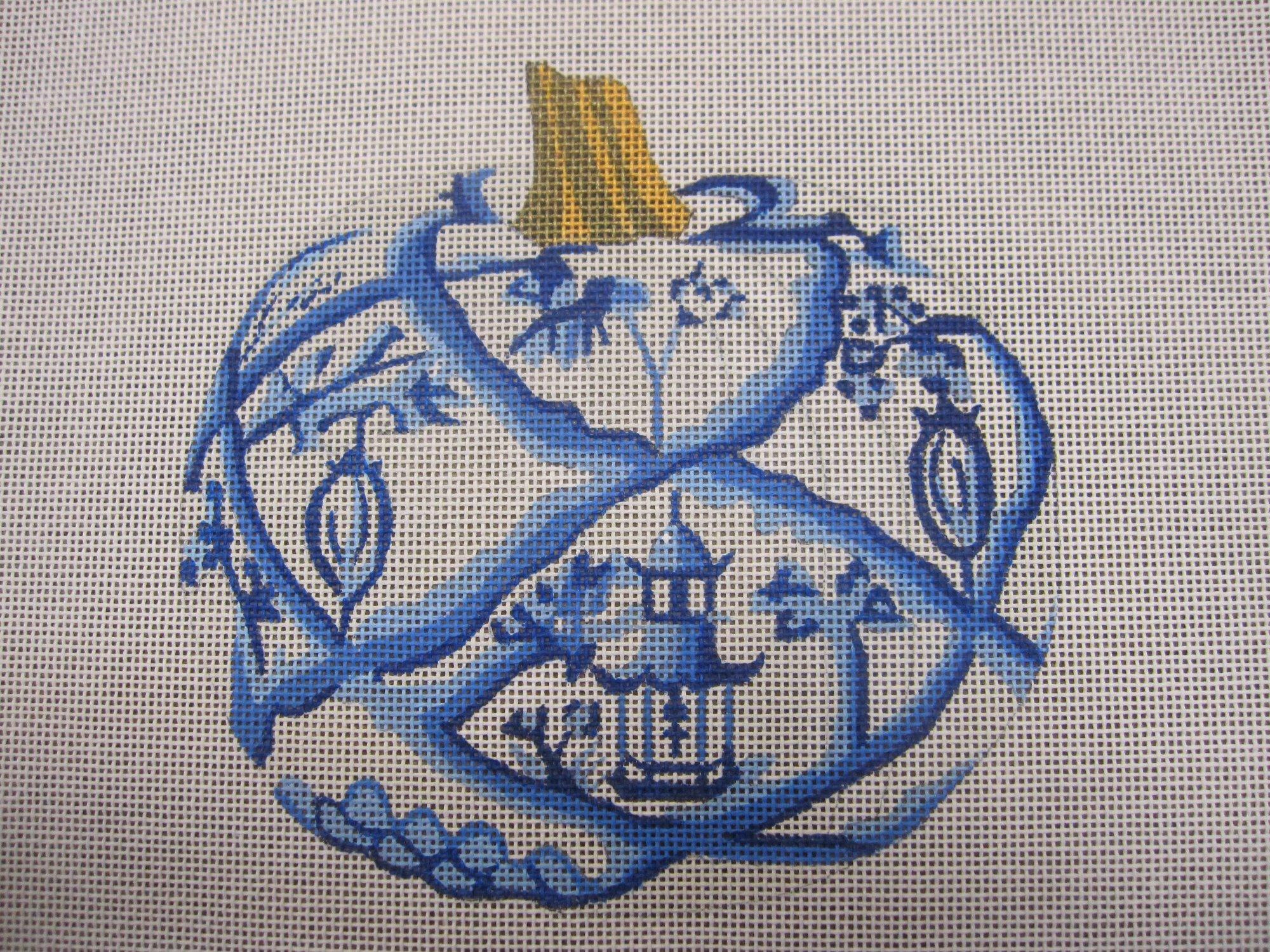 Blue and White Pumpkin - Garden