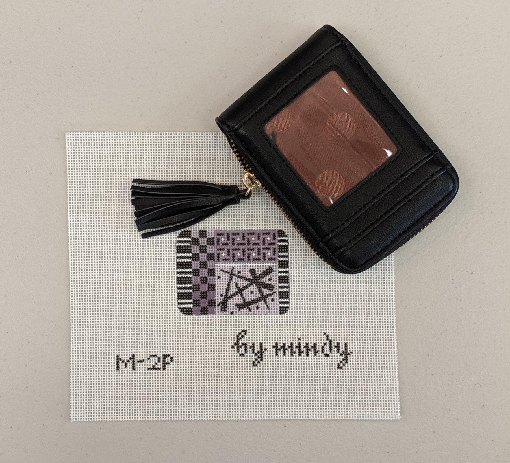 Black Single Wallet w/insert