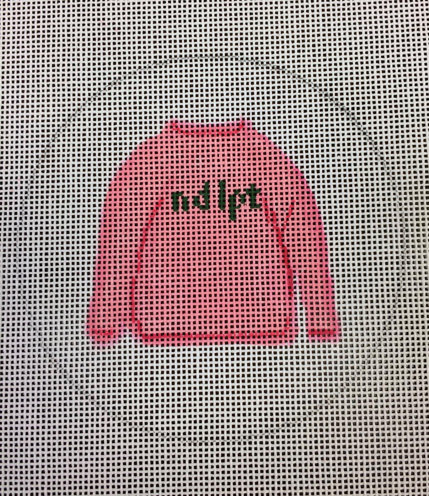 Ndlpt (Needlepoint) Pink Sweater