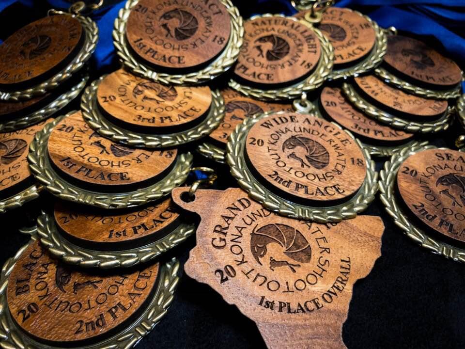 kona underwater shootout medals