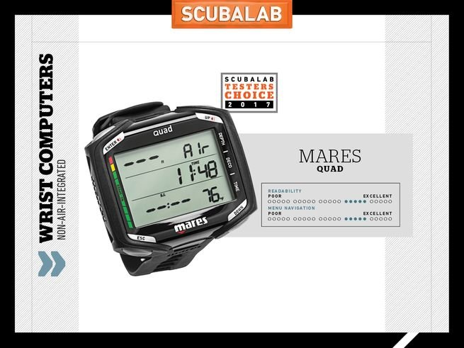 Mares Quad Testers Choice Easy to Read dive computer