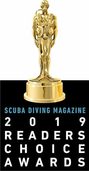 #2 Dive operator in the Pacific. Scuba Diving Magazine Readers choice award