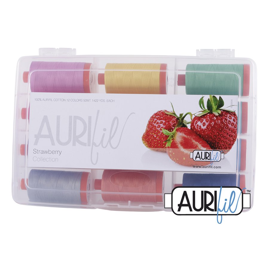 Aurifil's Strawberry Collection