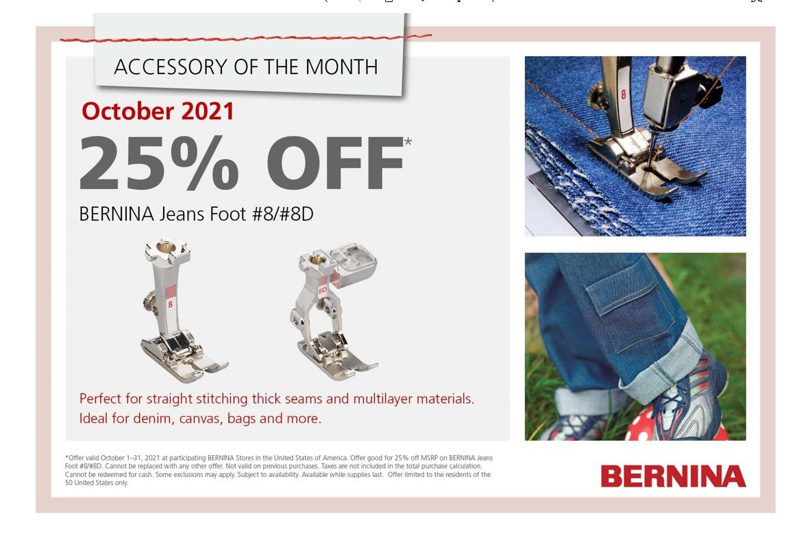 Accessory of the Month - BERNINA Jeans Foot