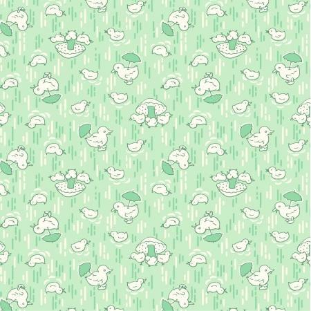 30s Cute Chicks - Mint Fabric