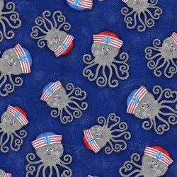Anchors Away Tossed Octopus - Blue