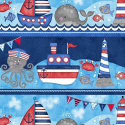 Anchors Away Large Sea Stripe