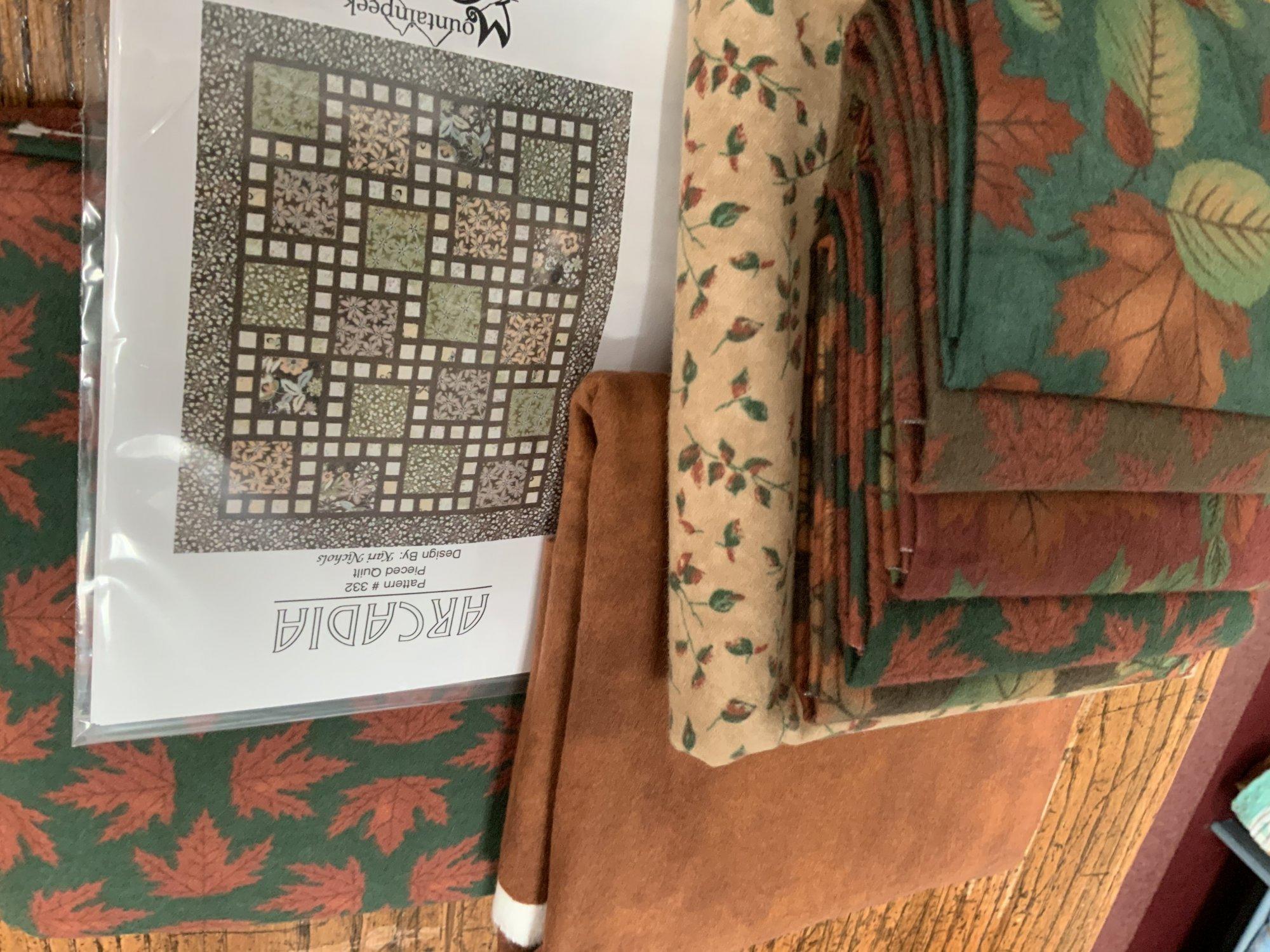 Fall Flannel Arcadia Kit 60 1/2 x 72 1/2