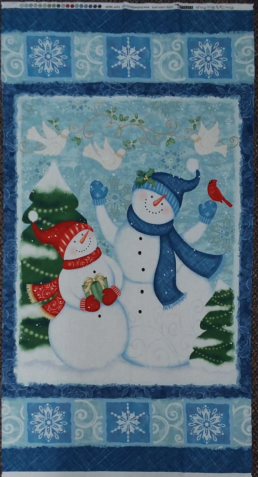 Winter Joy Snowman Panel