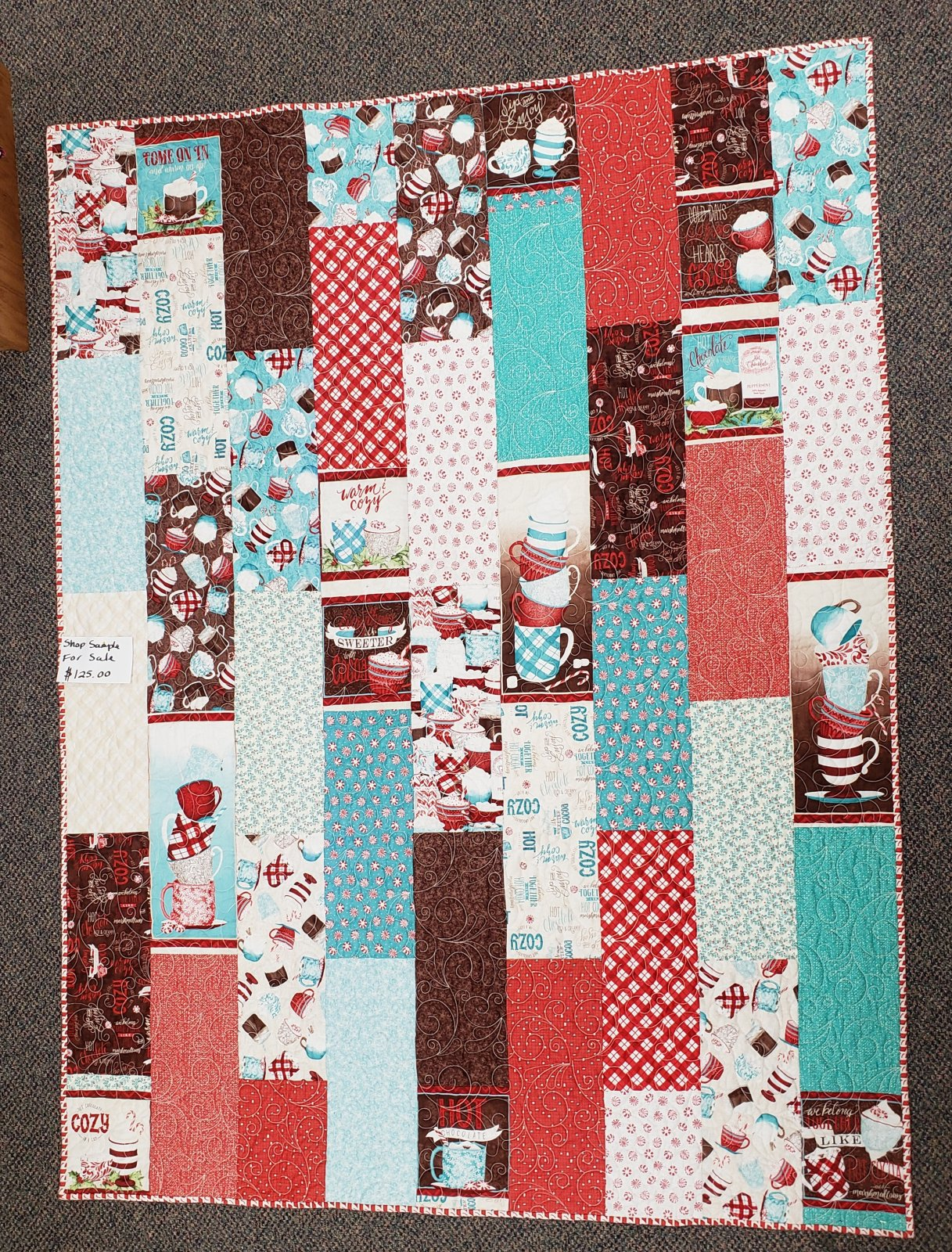 Cuppa Cocoa Spice Drop Quilt 53 x 70