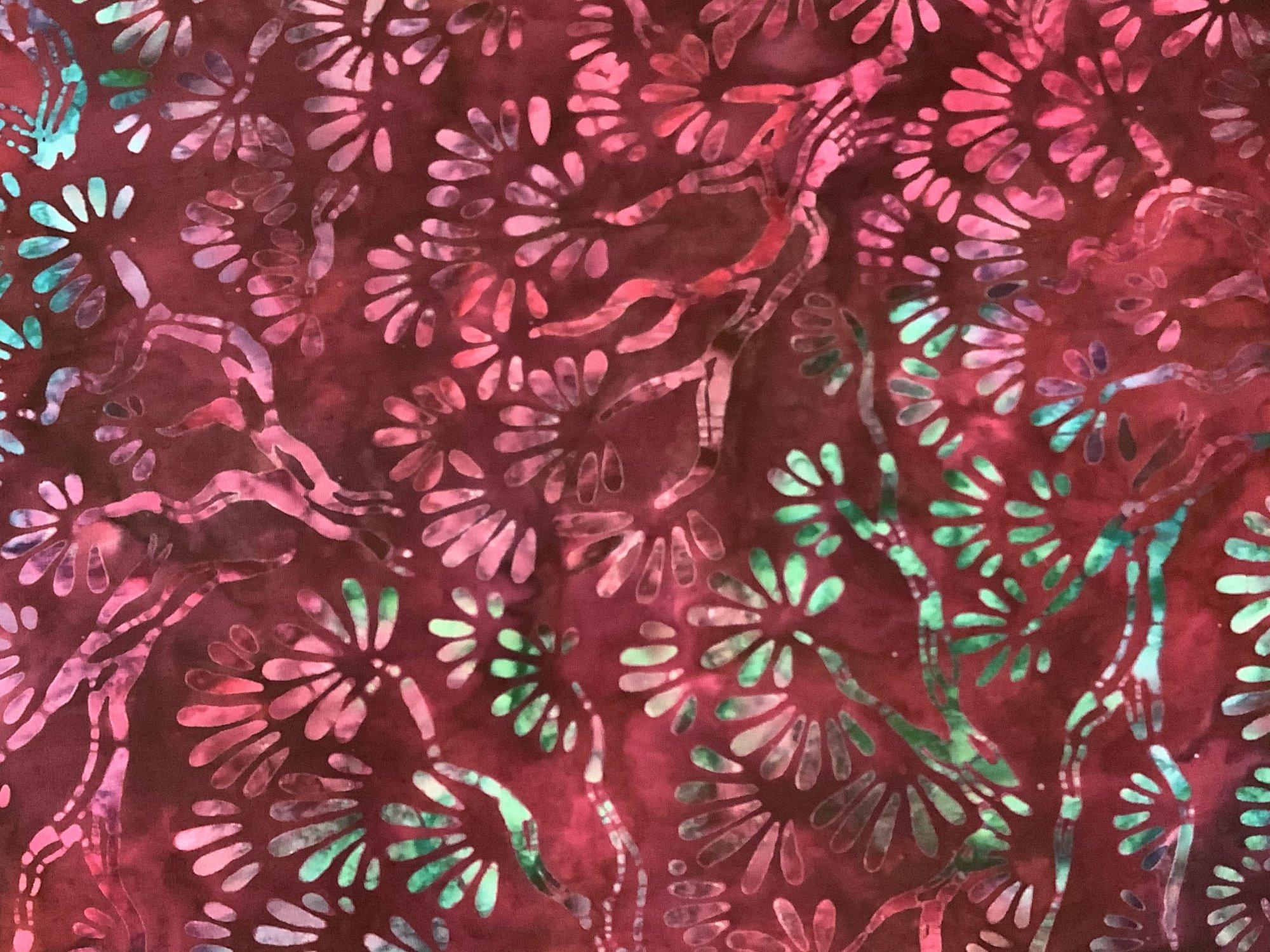 Sakura Batik Flowers Garnet