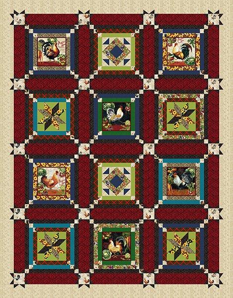 Farmer's Market Block Quilt 73 x 93