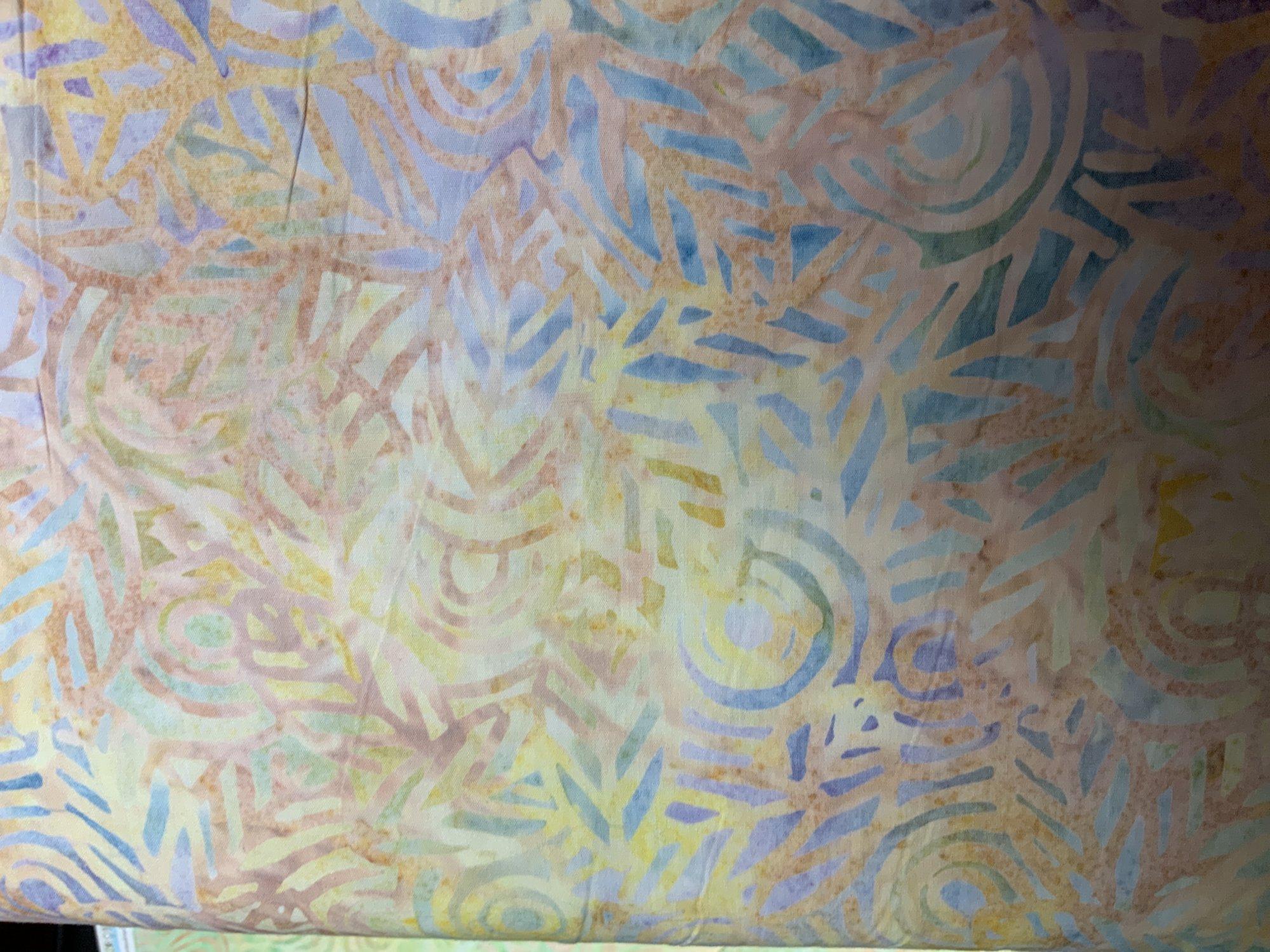 Geo Leaf on Peach Batik