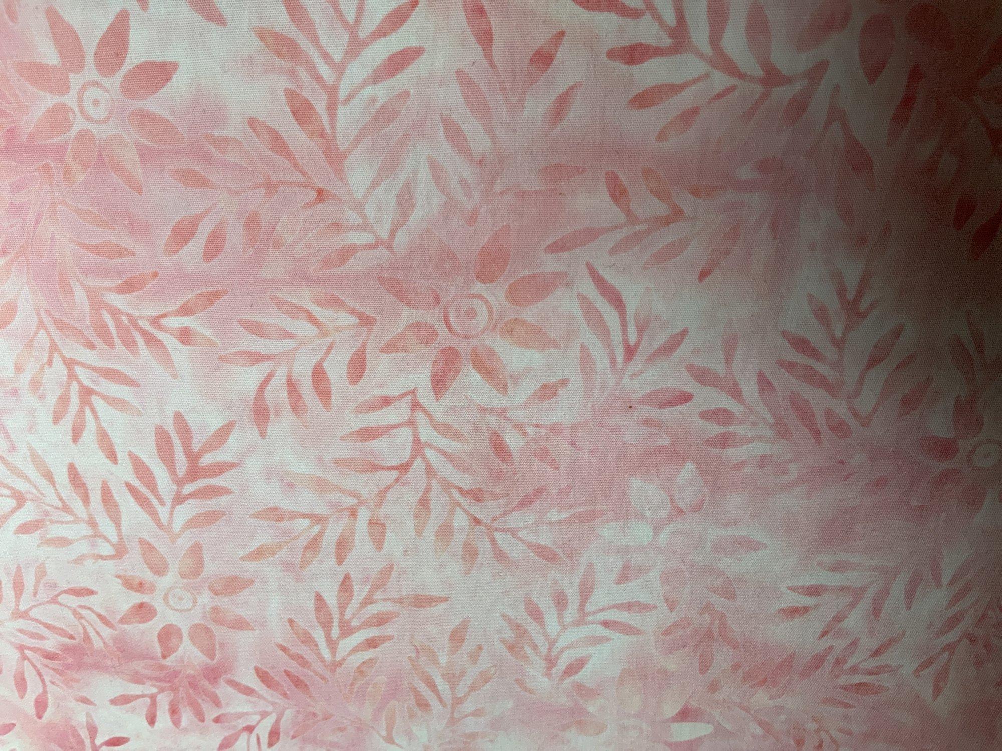 Pink Leafy Batik