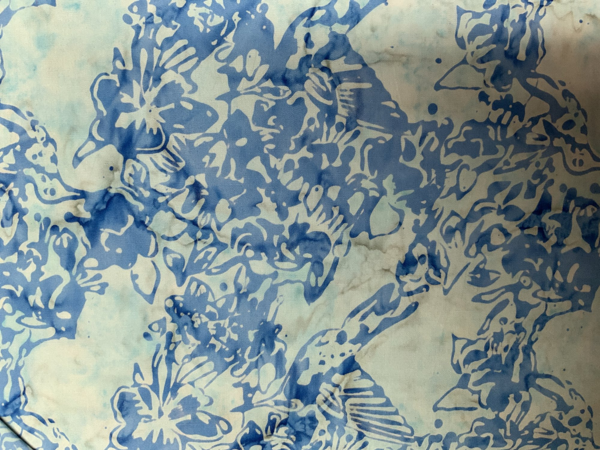 Light Blue Bird Batik