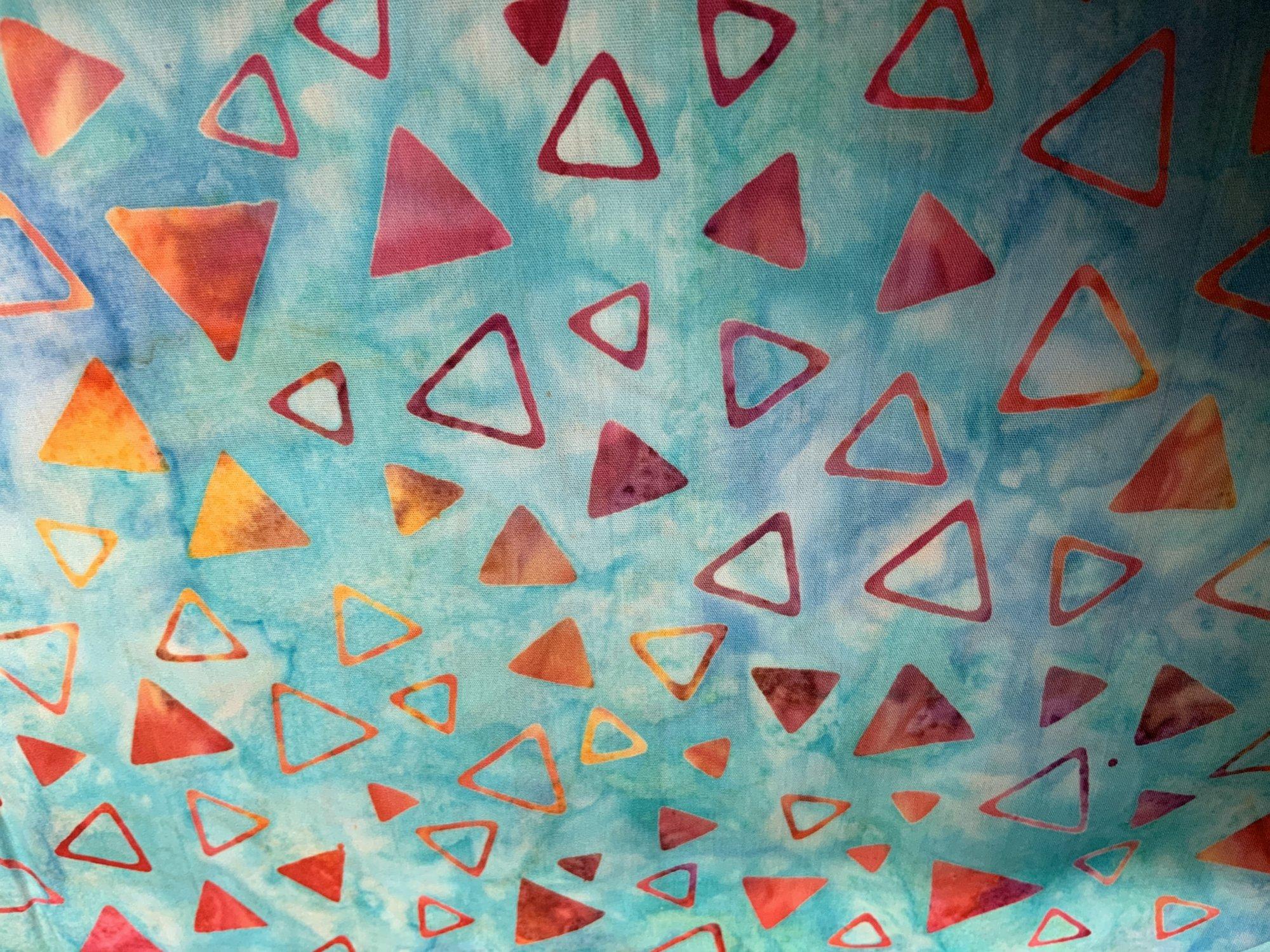 To The Point Orange Triangle Batik