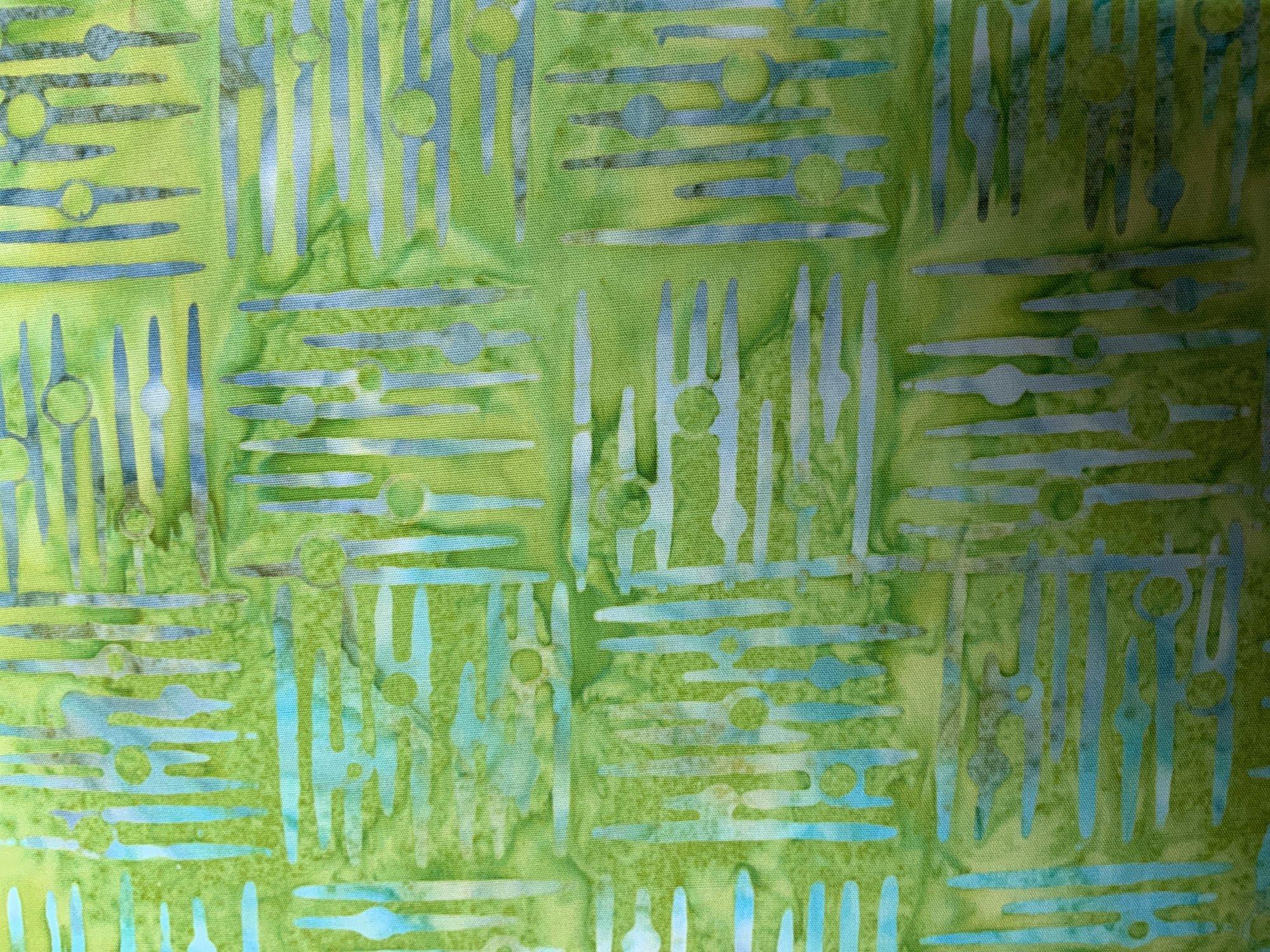 Lime Green Weave Print Batik