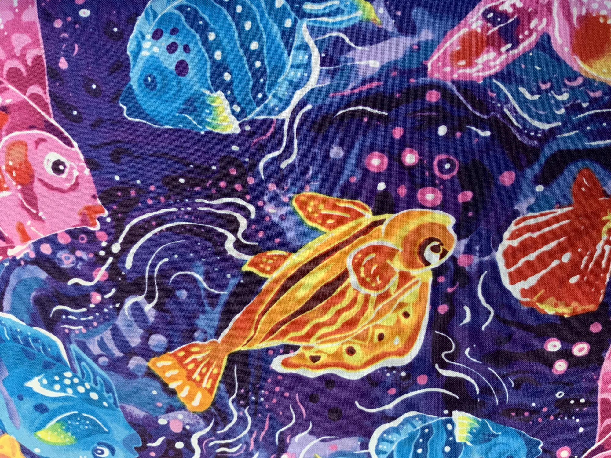 Tropical Fish on Purple