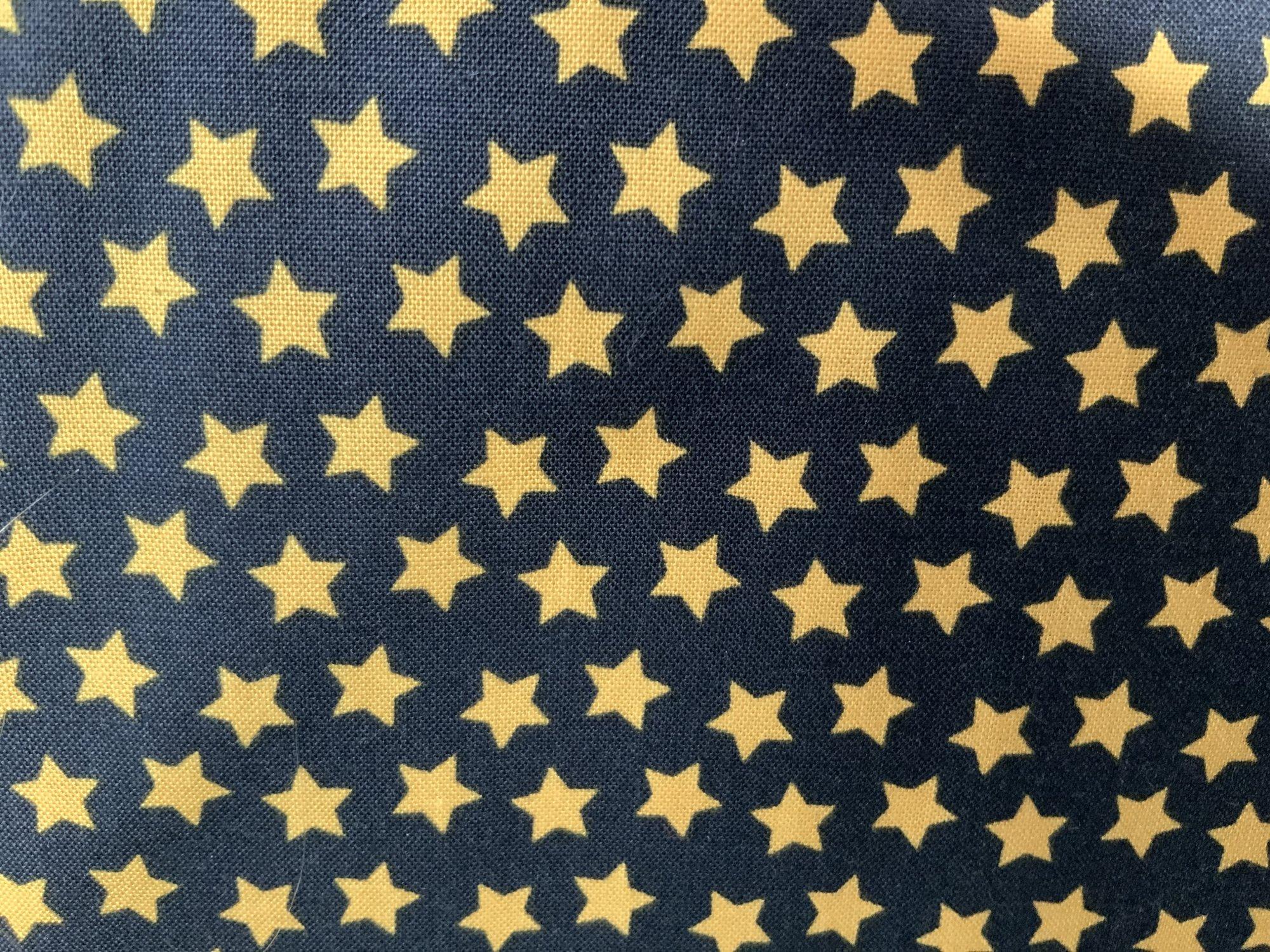 Gold Stars on Black
