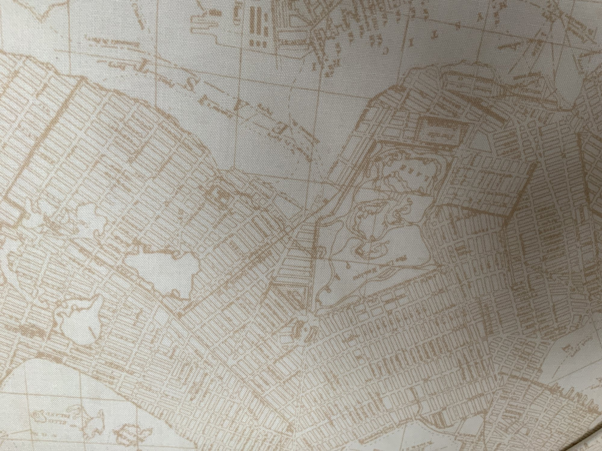 Enjoy the Ride Map Print-Cream