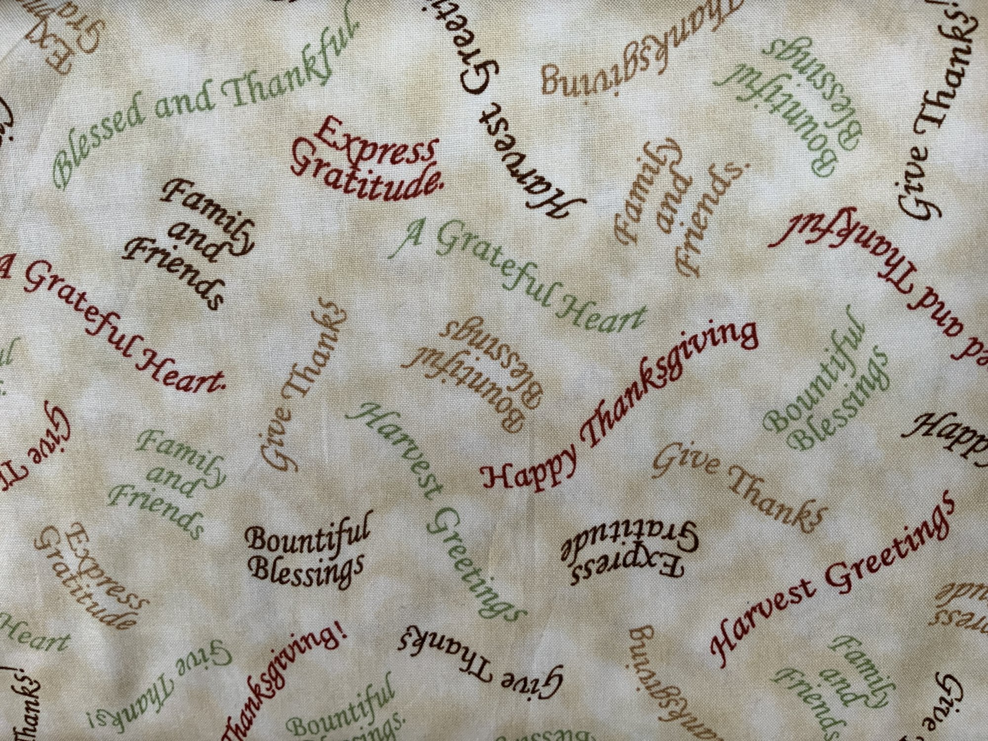 Bountiful Blessings Allover Word Print